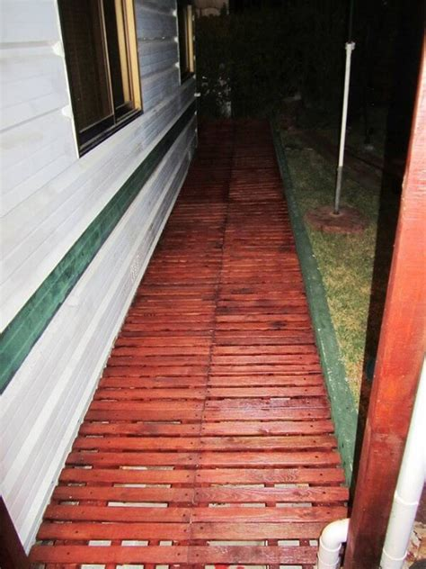 wood pallet walkway projects     home