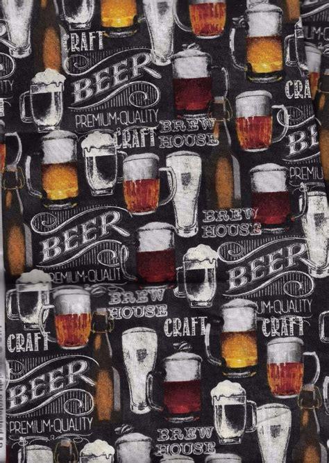 beer glass stein mug drink foam bar retro man cave fabric