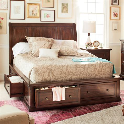 10810 bedroom sets with mattress hanover storage bed cherry value city furniture
