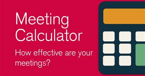 Facilitation Meeting Calculator  100% Effective