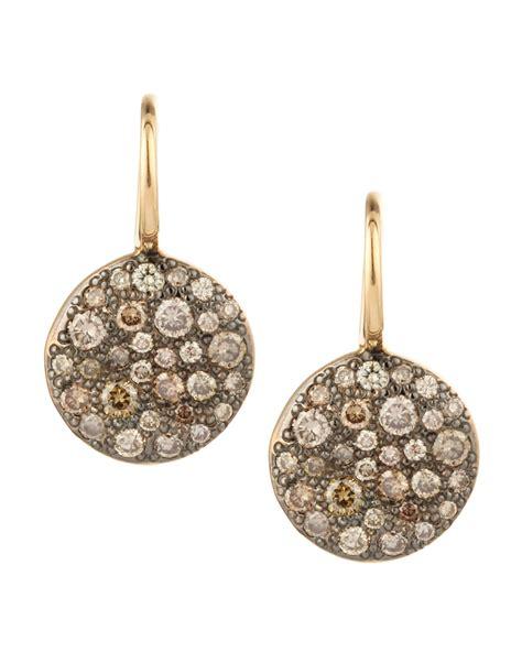 pomellato earrings pomellato sabbia white pave earrings in lyst