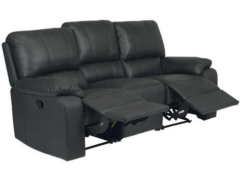 conforama canapé relax canapé fixe relaxation manuel 3 places en cuir