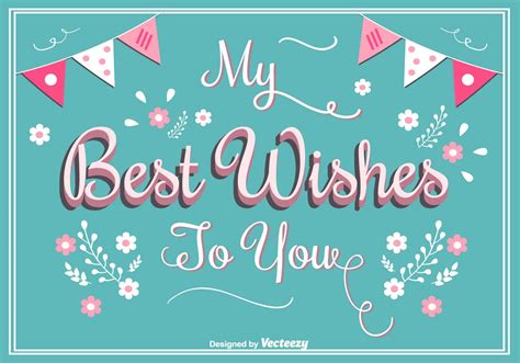 best wish best wishes greeting card free vector