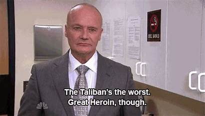 Creed Bratton Office Quotes Taliban Heroin Nerd