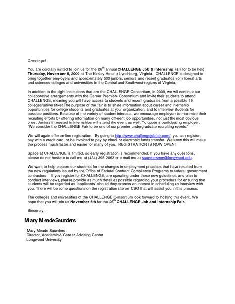 sample job fair invitation letter - Google Search