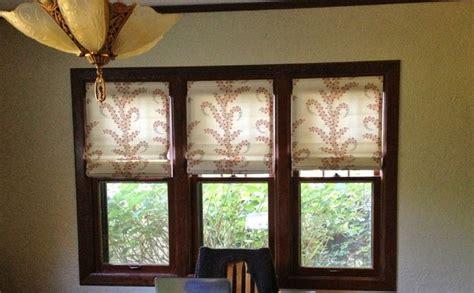 knechtel drapes  roman shades craftsman dining room