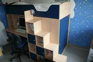 Bett Mit Schrank Und Schreibtisch : super hochbett mit integriertem schreibtisch und schrank wirklich platzsparend in essen ~ Indierocktalk.com Haus und Dekorationen