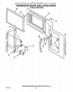 Parts For Kitchenaid Kems377xbl0  Microwave Door And Latch