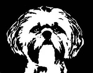 Free Georgia Bulldog Pumpkin Stencil by Shih Tzu Black Amp White Stencil Dog Art Print Flickr