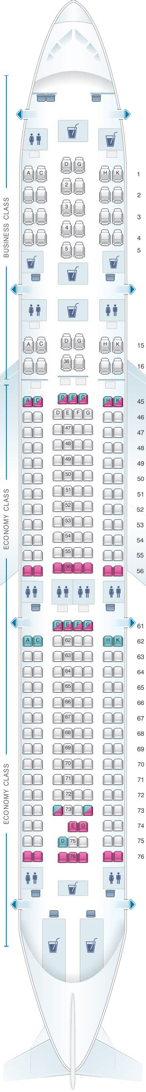Seat Map South African Airways Airbus A340 300 V1