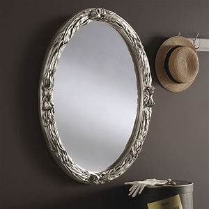 Yg230, Oval, Decorative, Wall, Mirror, In, Gold, And, Ivory, Hall, Or, Overmantle, Mirror