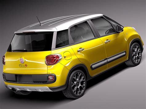 Fiat 500l Models by Fiat 500l Trekking 2014 3d Model Max Obj 3ds Fbx C4d