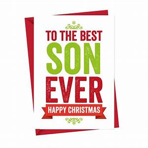 Best Son Ever Christmas Card Christmas Card A Is For