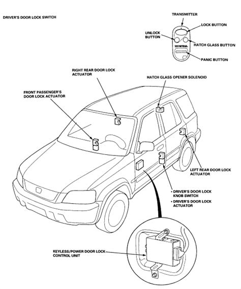 Electrical Wiring Diagram 1996 Honda Cr V by Door Lock Box For 1998 Honda Cr V Wiring Diagram