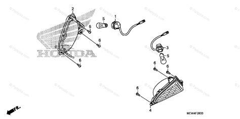 honda motorcycle 2010 oem parts diagram for turn signal partzilla