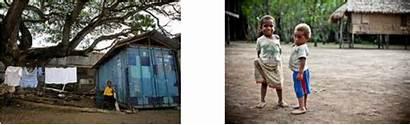 Poverty Faces Guinea Papua Children