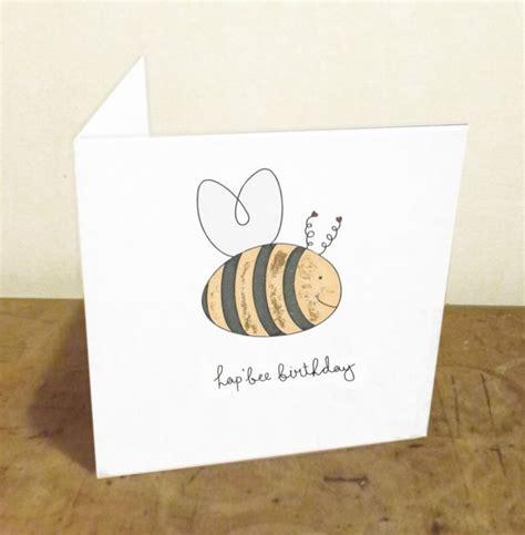 birthday puns hap bee birthday funny pun handmade illustrated birthday card w gold leaf lebonmot em s