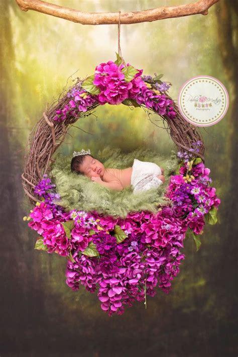 baby flower nest photography prop newborn poses prop
