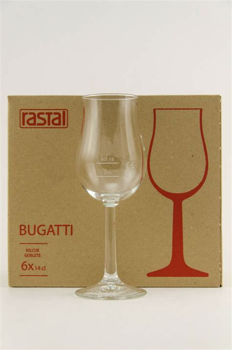 The brand that combines an artistic approach with superior technical innovations in the world of super sports cars. 6 Stück RASTAL Bugatti Whisky Nosing Tasting Gläser