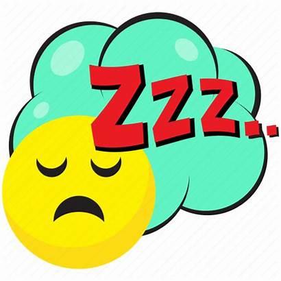 Zzz Sleep Sign Icon Pop Snoring Bubble