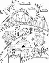 Carnival Coloring Printable Circus Museprintables Colorear Theme Crafts Dibujo Dibujos Sheets Adult Papers Drawing Parques Hojas Parque Printables Simple Camping sketch template