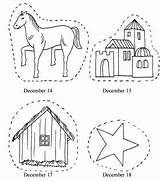 Nativity Coloring Printable Advent Chain sketch template