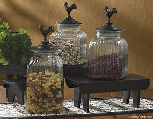 Rooster Glass Jars