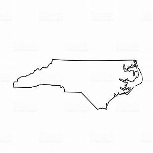 Map Of The Us State North Carolina stock vector art ...