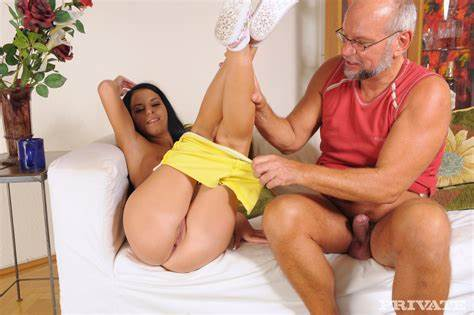 Stretched With Younger On Web Old Daddy Meets Slim Cameltoe