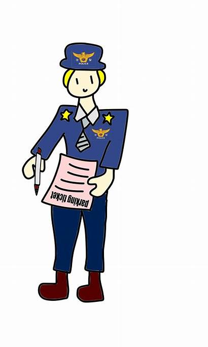 Police Officer Clipart Clip Ticket Parking Transparent