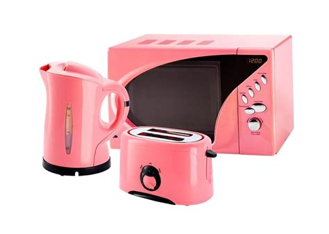 coloured toaster and kettle set pink microwave toaster and kettle set from www pink