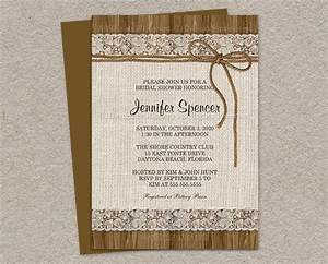rustic bridal shower invitation burlap bridal shower With free printable burlap wedding invitations