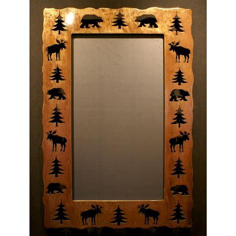 bear moose tree cut out mirror mirror frames home