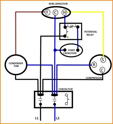 ac fan motor run start capacitor wiring diagram best