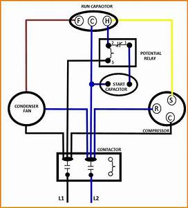 Ac Fan Motor Run Start Capacitor Wiring Diagram