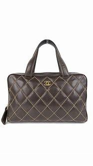 #chanel Wild Stitch Boston Handbag Brown G Hardware Bag