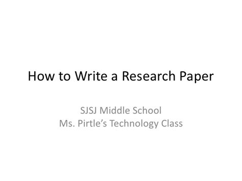 Teaching Middle School Students How To Write A Resume by 10 Steps To Writing A Research Paper