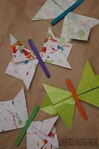Schmetterlinge Aus Papier : schmetterling falten aus papier bastelnmitkids ~ Lizthompson.info Haus und Dekorationen