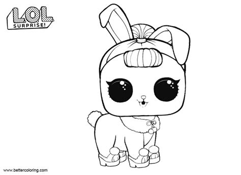 Lol Pets Kleurplaat by Lol Pets Coloring Pages Bunny Free