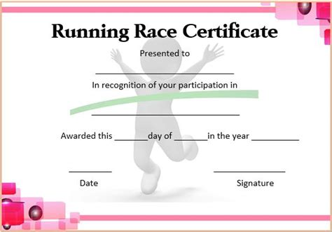 Run Certificate Template by Running Certificate Templates 20 Free Editable Word