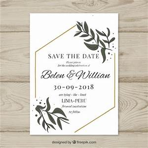 wedding card with modern leaves vector free download With wedding cards photo editor