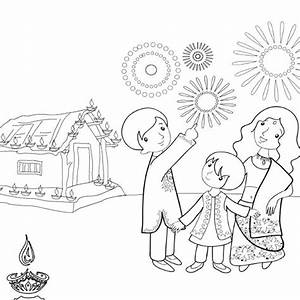 Deepavali Festival Drawing for Kids - Diwali Drawings ...