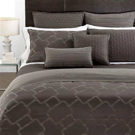 hotel collection duvet hotel collection gridwork king duvet cover graphite new ebay