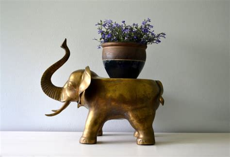 reserved vintage brass elephant large plant stand