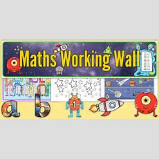Space Themed Maths Working Wall Pack  Space, Maths, Working