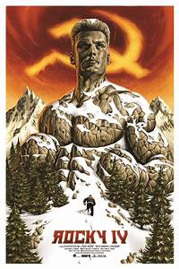 Exclusive: Rocky IV Poster By Jason Edmiston Is Bad Ass