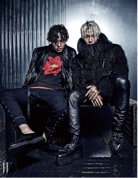 gd magazine bigbang gd and taeyang for w korea magazine wild things big bang photo 37695489 fanpop