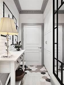 Deco Couloir Blanc : 1001 id es pour savoir quelle couleur pour un couloir ~ Zukunftsfamilie.com Idées de Décoration