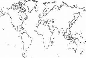 Blank World Map Clip Art At Clker Com