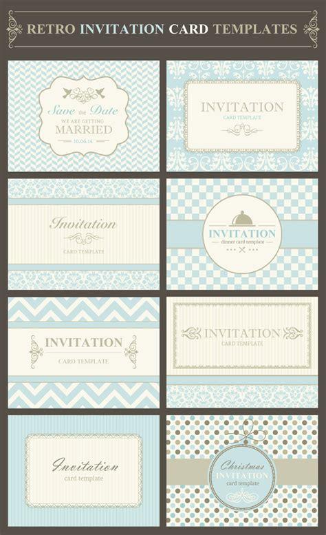 free exclusive vector illustration retro invitation template